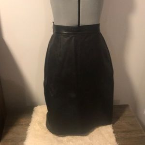 Lambskin leather skirt - approx size 2/4